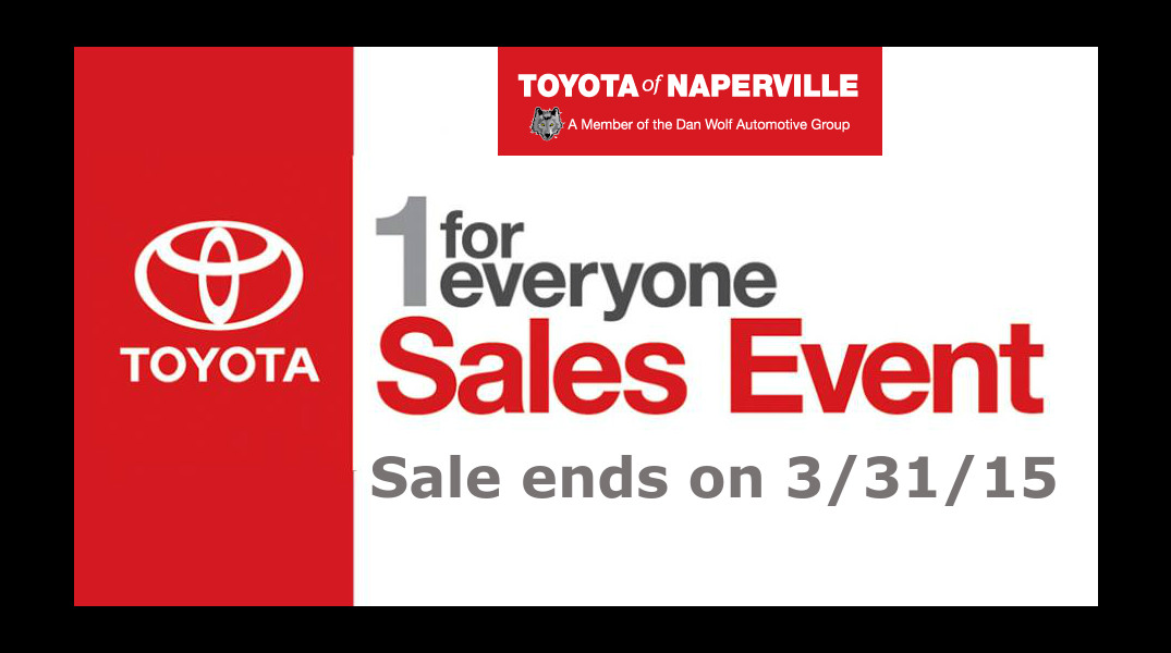 When does the Toyota 1 for Everyone sale end?