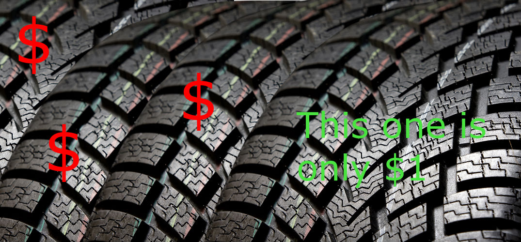 get a tire for a dollar