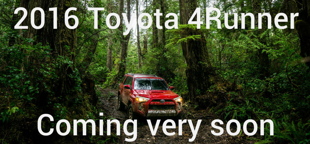 release date for the 2016 Toyota 4Runner