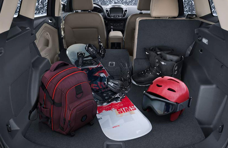 Cargo Space Of  Ford Escape With Partially Collapsed Seats