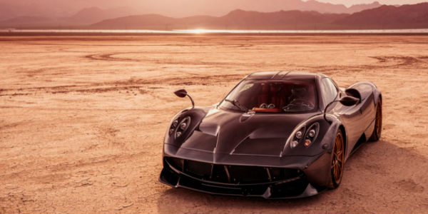 Exterior View of the 2017 Pagani Huayra in Black