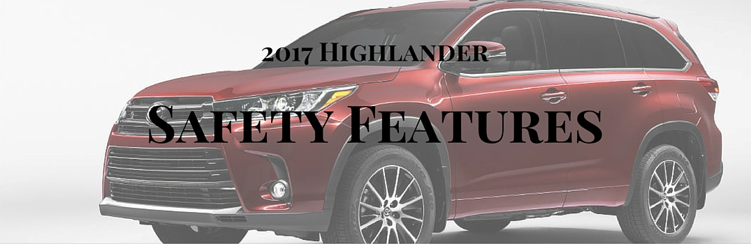 2017 toyota highlander safety features. Black Bedroom Furniture Sets. Home Design Ideas