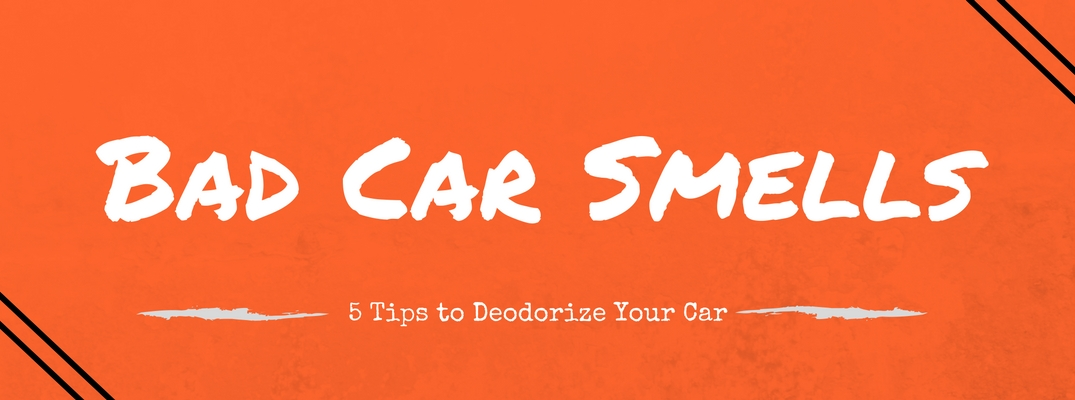 5 tips to get that bad smell out of your car
