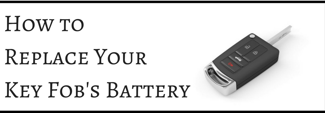 how to replace key fob's battery