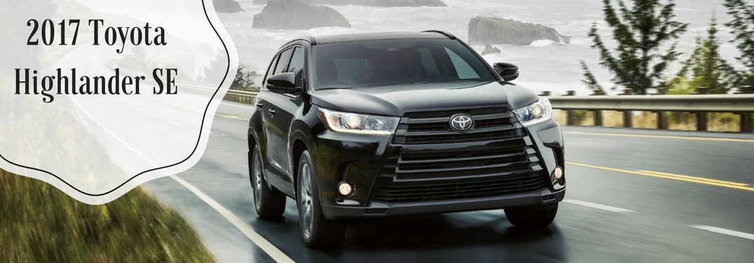 2017 toyota highlander xle vs 2017 toyota highlander se. Black Bedroom Furniture Sets. Home Design Ideas