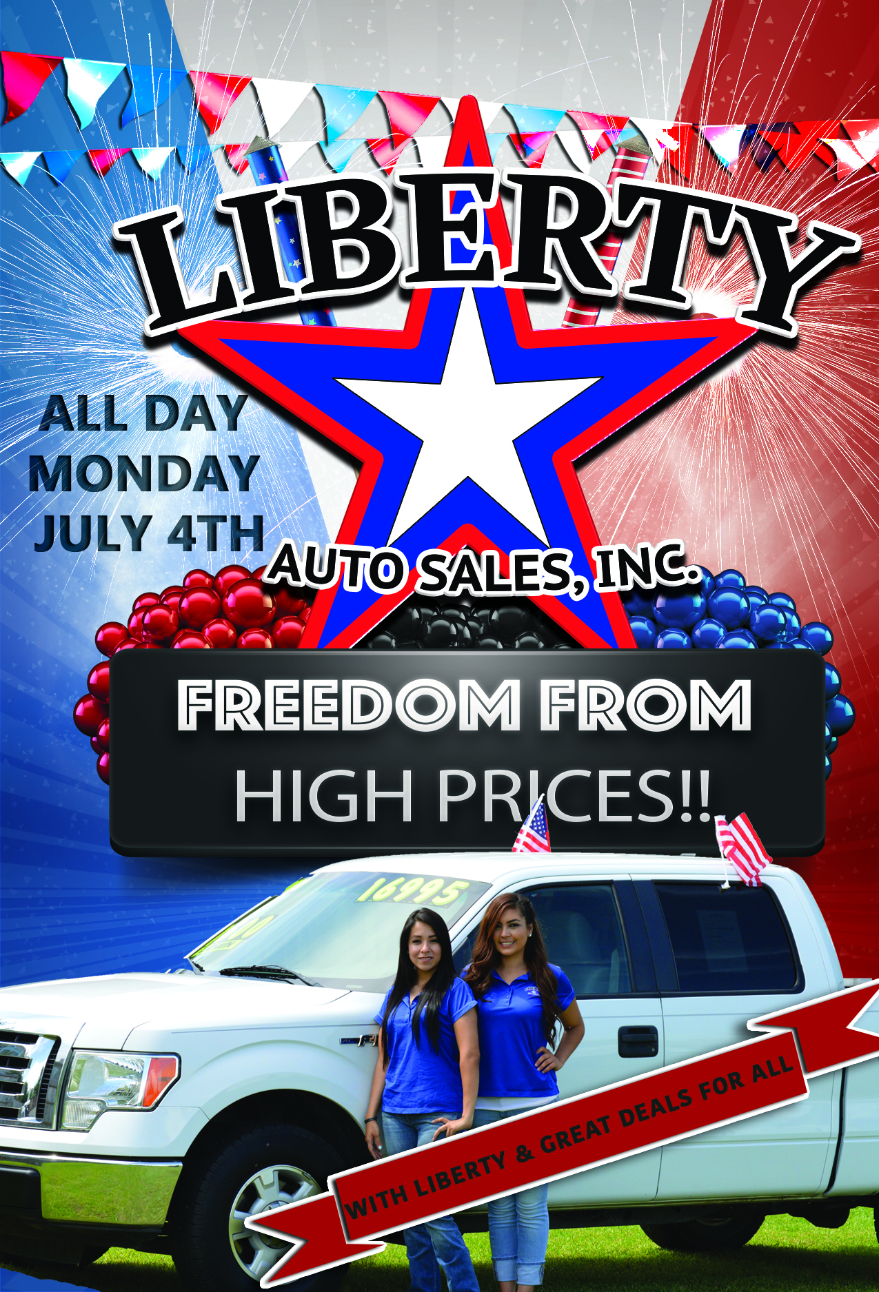 Liberty Auto Sales >> Fourth Of July Sale Liberty Auto Sales Inc
