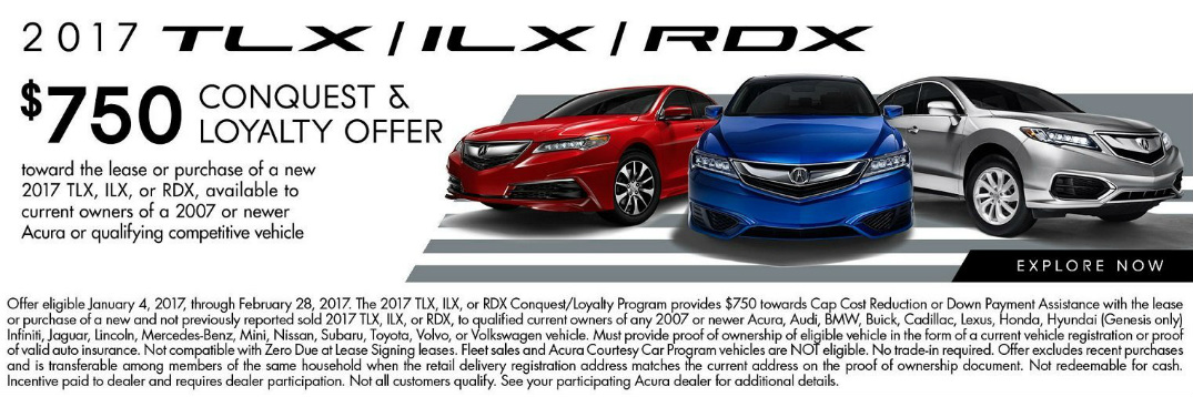 2017 Acura TLX-ILX-RDX Conquest & Loyalty Offer Palatine IL