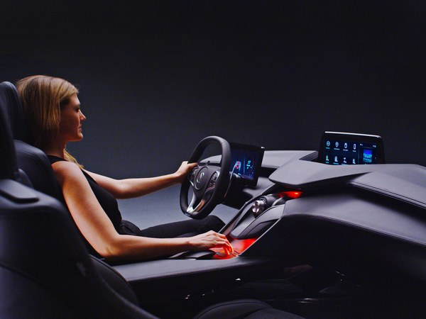 What a self-driving Acura cockpit might look like