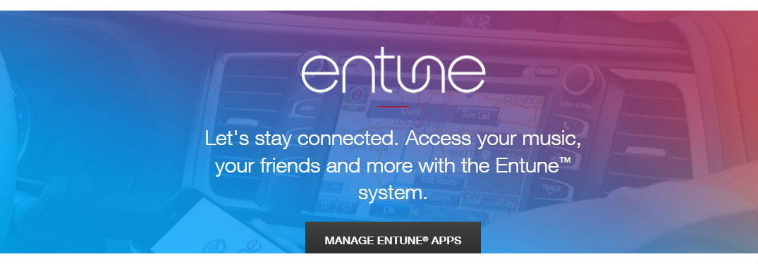 What apps does Toyota Entune Audio have?