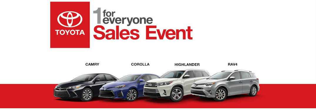 Toyota 1 for Everyone Sales Event Columbus IN