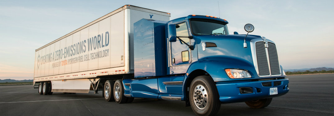 Toyota hydrogen fuel cell commercial semi-truck