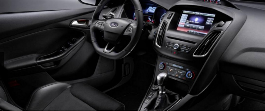 new 2016 ford focus rs will feature a manual transmission. Black Bedroom Furniture Sets. Home Design Ideas