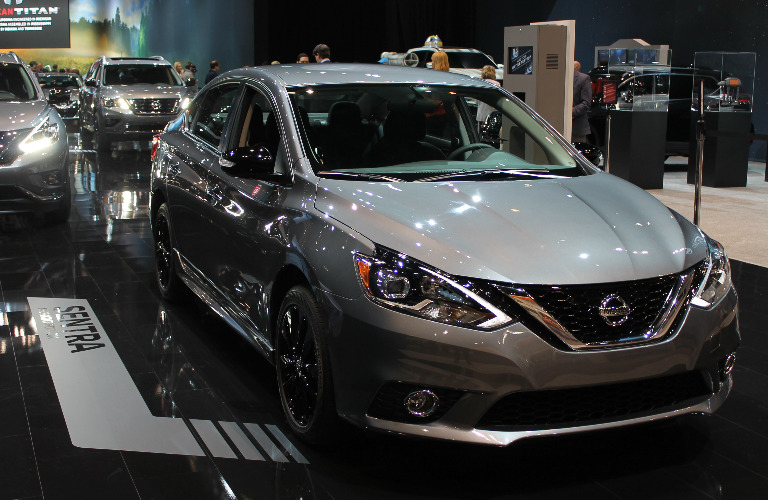 2017 Nissan Midnight Edition models Chicago Auto Show display