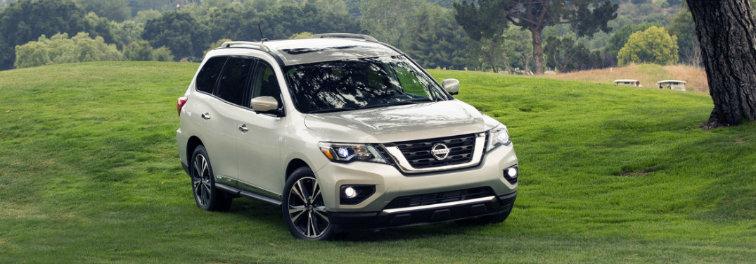 2018 Nissan Pathfinder parked in the grass