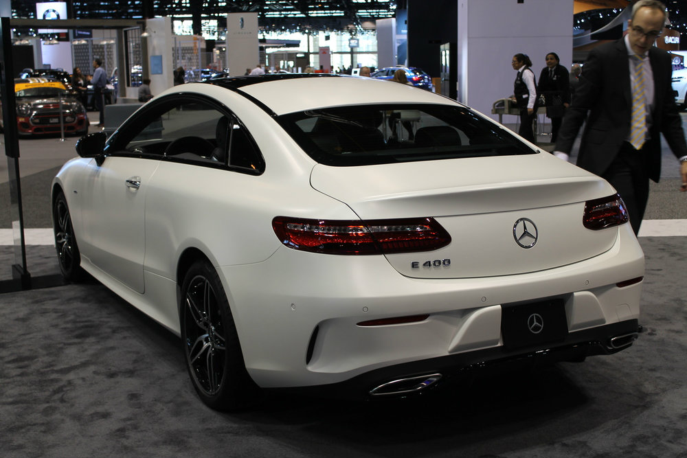photos of the 2017 chicago auto show e class coupe debut. Black Bedroom Furniture Sets. Home Design Ideas