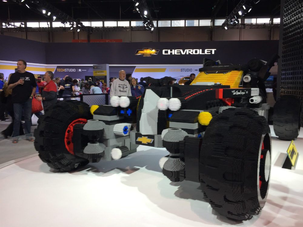 Check out the lego displays at the 2017 chicago auto show for Drive away motors inventory