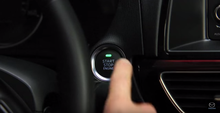 Mazda push button start green indicator