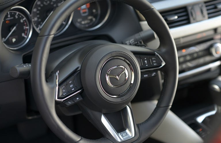 2017 Mazda6 leather wrapped steering wheel