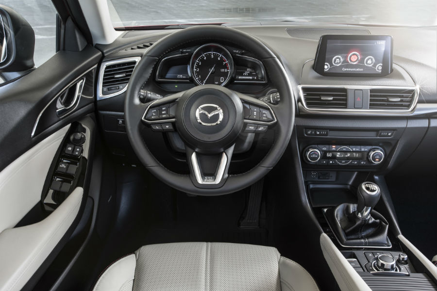 2017 Mazda3 front interior driver dash and display audio_o
