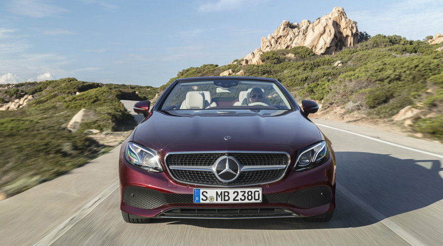 World premier of the 2018 mercedes benz e class cabriolet for Mercedes benz of reading