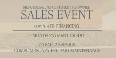 Certified pre owned mercedes benz sales event for Mercedes benz certified pre owned financing