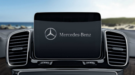 Infotainment screen in the 2017 Mercedes-Benz GLS 450