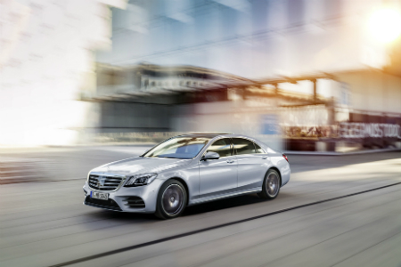 Upcoming silver 2018 Mercedes-Benz S-Class Sedan