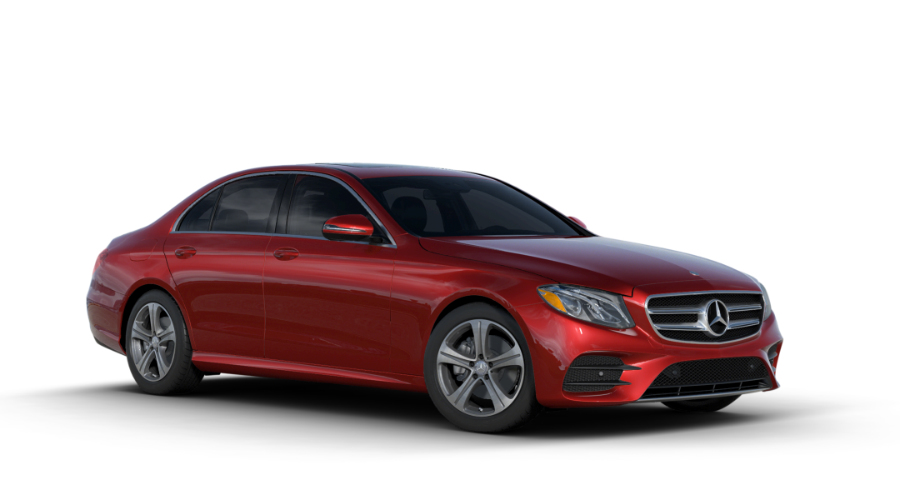 2017 Mercedes-Benz E-Class in designo Cardinal Red Metallic