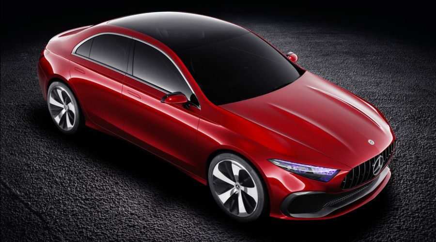 Overhead view of the 2018 Mercedes-Benz Concept A Sedan