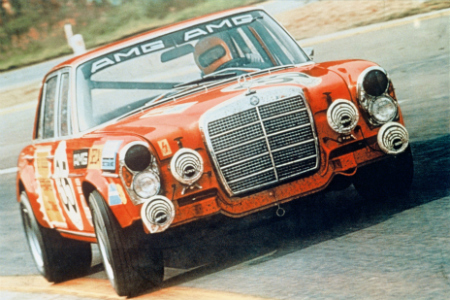 1971 red-painted AMG 300 SEL 6.8