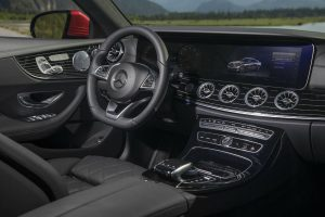 2018 Mercedes-Benz E-Class Coupe front interior driver dash and infotainment system_o