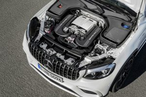 2018 Mercedes-AMG GLC63 Coupe exterior engine_o
