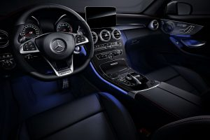 2018 Mercedes-Benz C-Class Coupe front interior driver dash and infotainment system_o