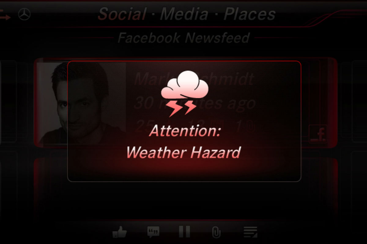 Mercedes-Benz Car-to-X weather hazard_o