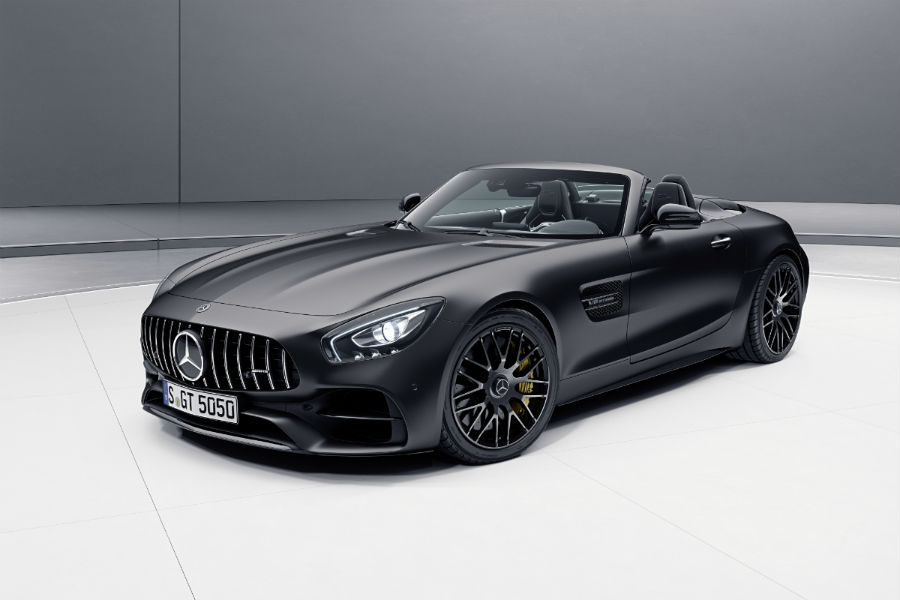 2018 Mercedes-AMG GT C Roadster Edition 50 front side exterior_o