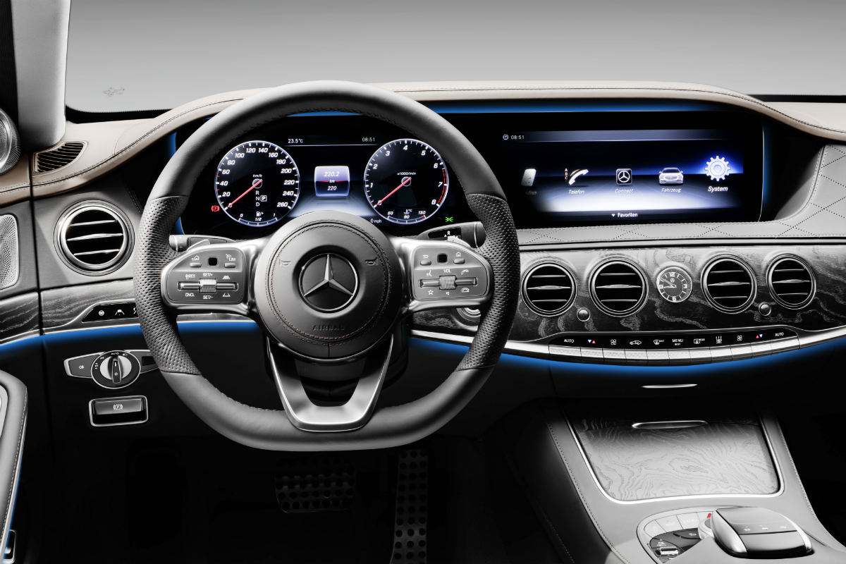 2018 mercedes benz s class sedan safety and technology features. Black Bedroom Furniture Sets. Home Design Ideas