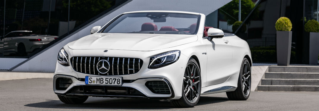 2018 Mercedes-Benz S-Class Cabriolet front side exterior with the top down