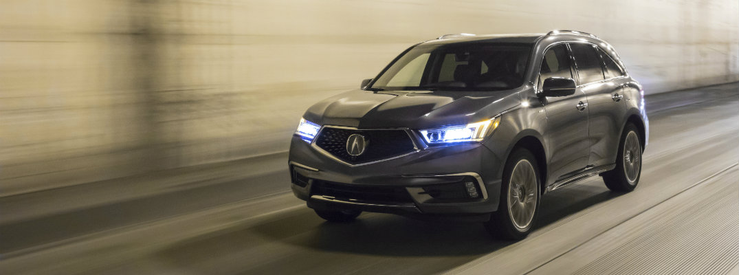 SH-AWD® In the new MDX Sport Hybrid, Acura's Sport Hybrid Handling All-Wheel Drive™ (SH-AWD®) manipulates the engine, motor, and battery pack to deliver the ideal combination of sporty performance and impressive efficiency.