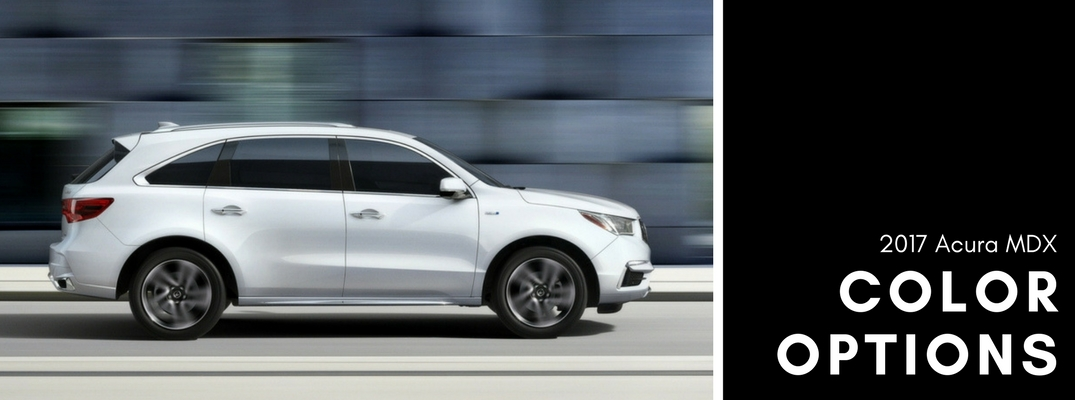 2017 Acura MDX color options