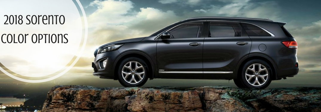 2018 Kia Sorento Exterior Color Options