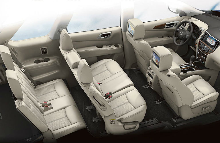 2017 Nissan Pathfinder passenger seating