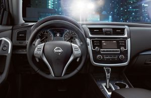 Front dashboard view of the 2018 Nissan Altima