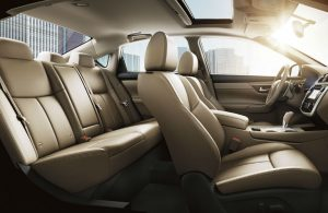 Interior passenger seating area of the 2018 Nissan Altima