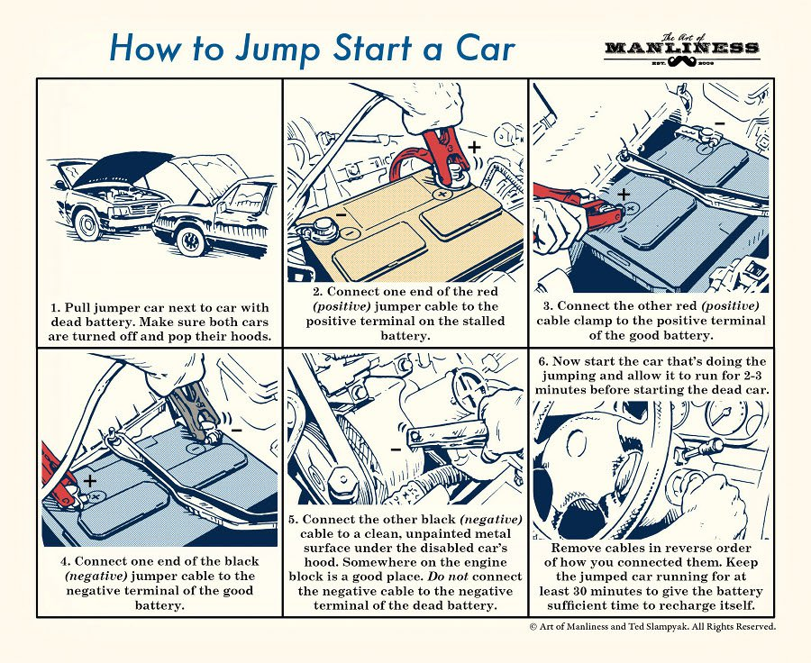 how to jumpstart a car illustrated guide