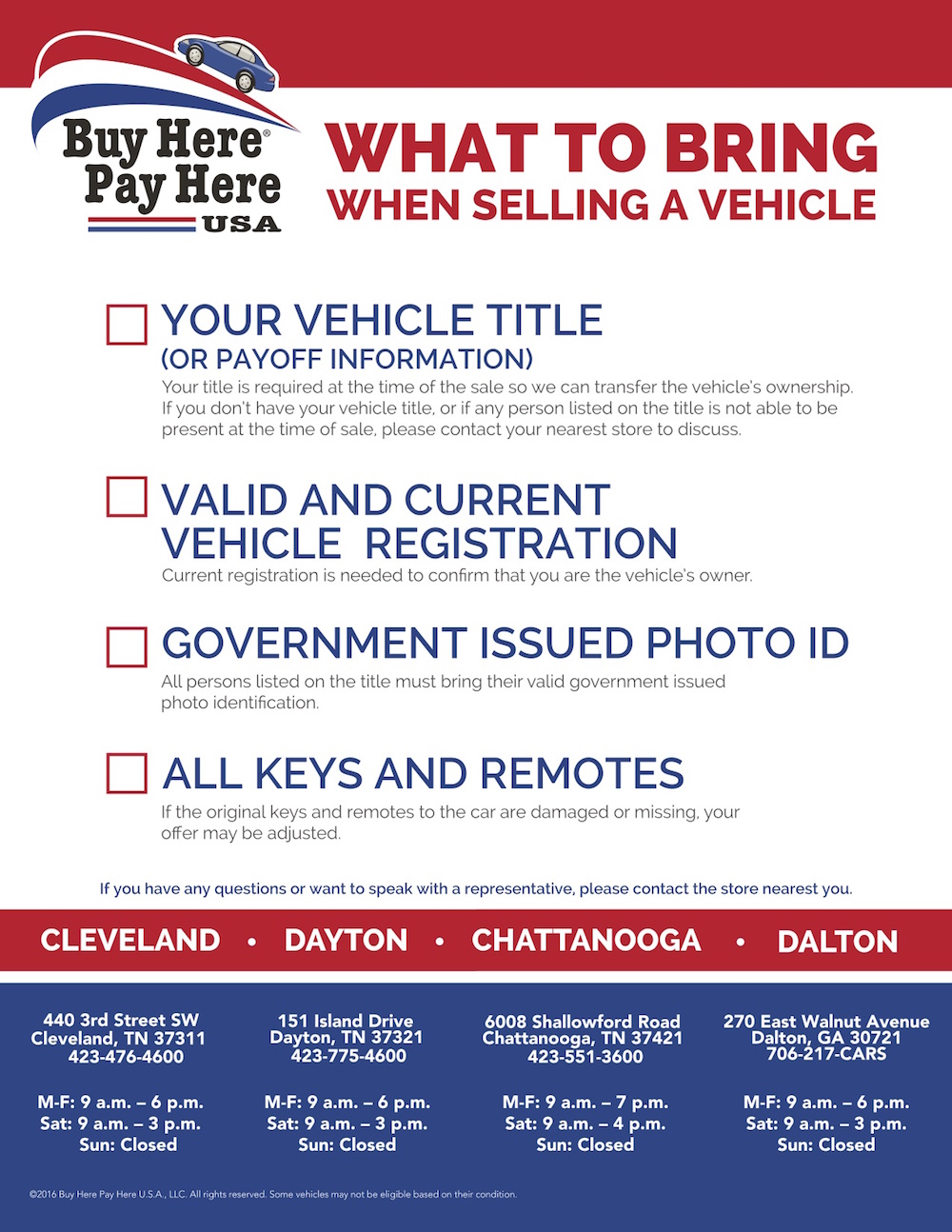 how to sell a used car to a dealership buy here pay here usa