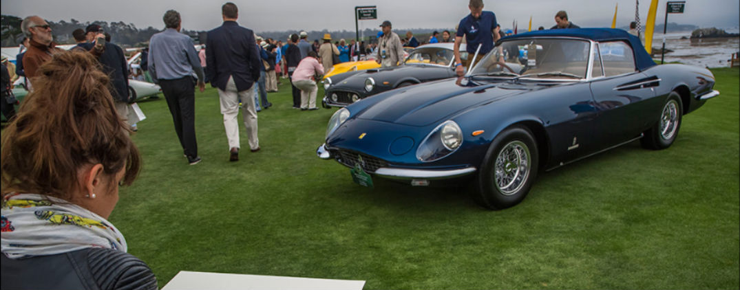 ferrari and maserati at pebble beach concours d'elegance