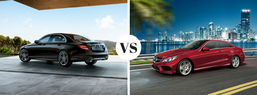 2017 mercedes benz e300 sedan vs e550 coupe for Mercedes benz e300 sedan