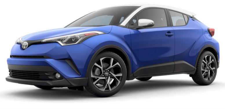 2017 Toyota CH-R color option blue eclipse metallic r-code