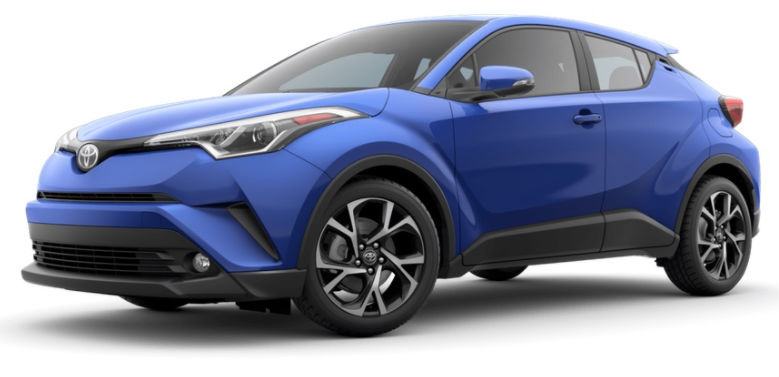 2017 Toyota CH-R color option blue eclipse metallic