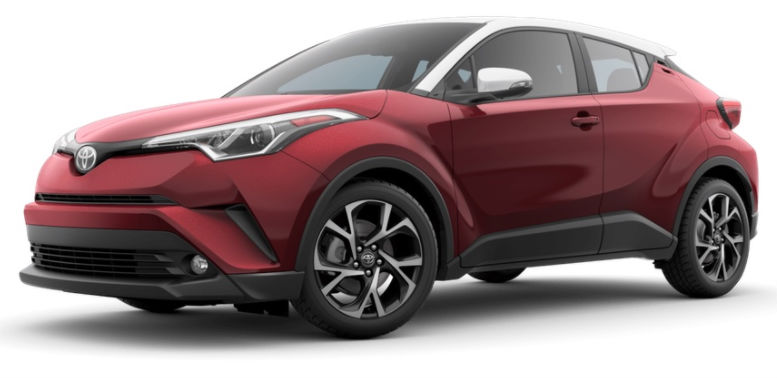 2017 Toyota CH-R color option ruby red pearl r-code